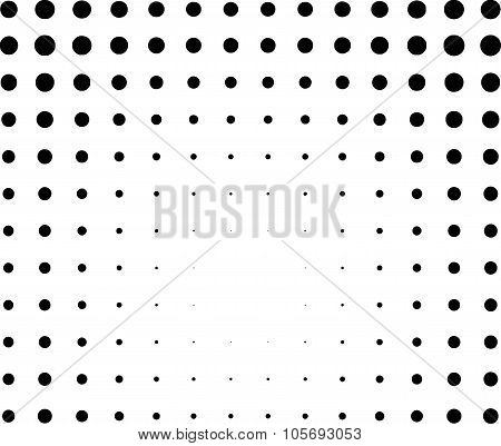Graphical Black And White Light Effect In Halftone Style