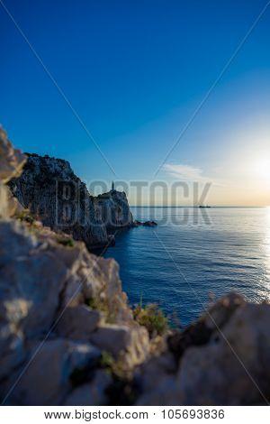 Lefkada island lighthouse Greece