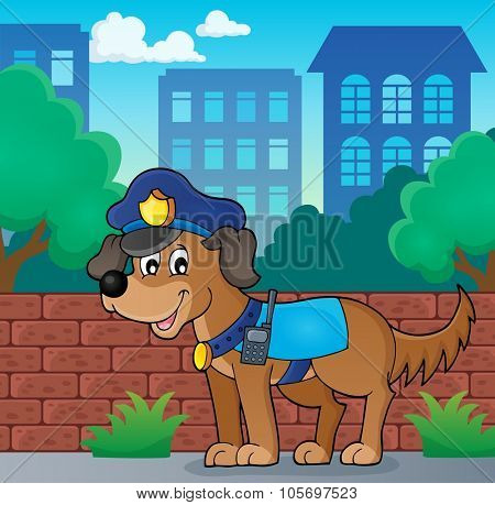 Police dog theme image 3 - eps10 vector illustration.