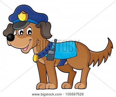 Police dog theme image 1 - eps10 vector illustration.