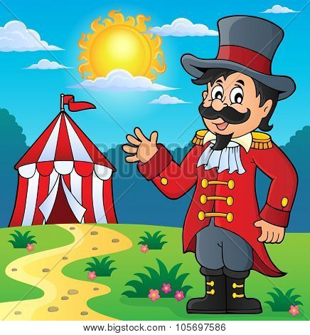 Circus ringmaster theme image 3 - eps10 vector illustration.