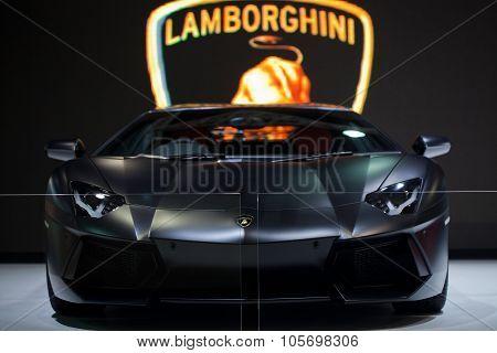 Bangkok - May 13: Black Lamborghini Galardo Sports Car On Display At The Super Car & Import Car Show