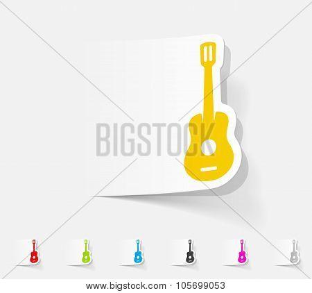 realistic design element. guitar