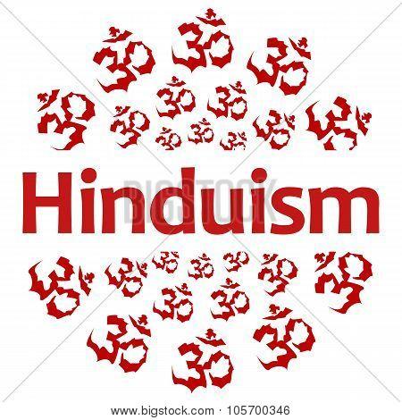 Hinduism Circular Aum