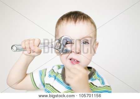 little worker with a wrench