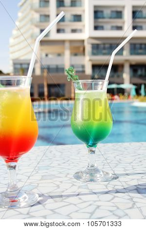 Cocktail Drinks Poolside