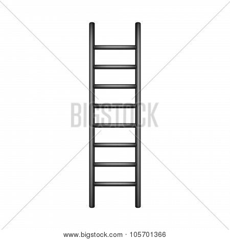 Wooden ladder in black design