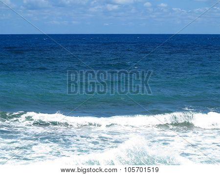 Clear Azure Sea Near Crete Coast, Greece