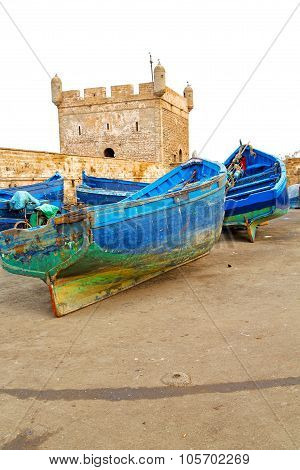 Boat And Sea In Africa Morocco Old