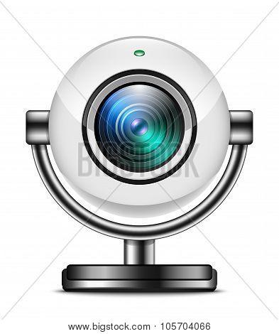Web Camera Icon Isolated On White Background