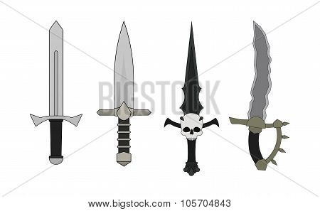 Daggers Set. Human, Elf, Vampire, Orc