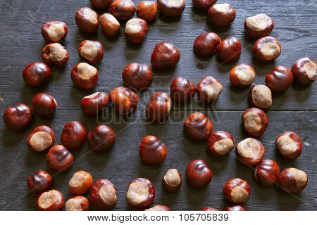 The Fruits Of The Chestnut On The Table