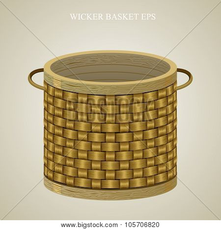 Round wicker basket 1.