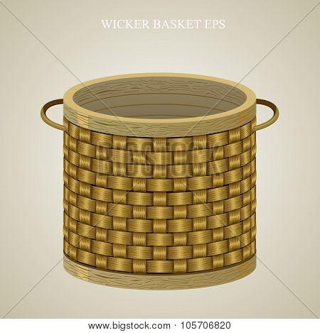 Round wicker basket 1.