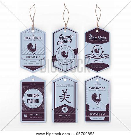 Vintage tags set