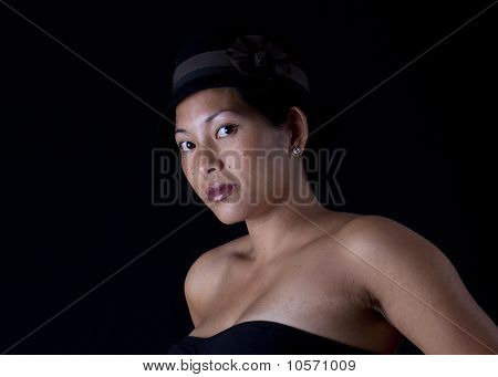 Asian Woman With Hat