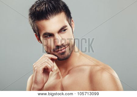 Man's Beauty Portrait