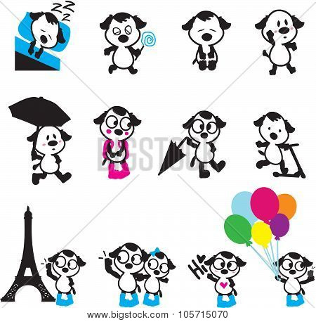 Cute Puppy Characters