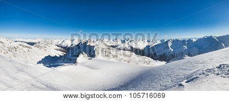 Snowy Alpine Mountains