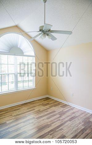 New Hardwood Floor Under Ceiling Fan