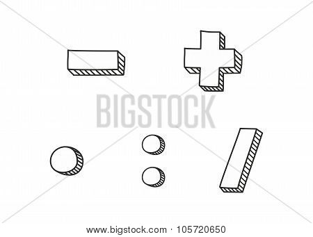 Vector icon isolated on white background