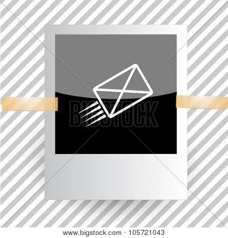 send mail. Photoframe. Vector icon.