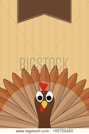 Thanksgiving turkey banner design