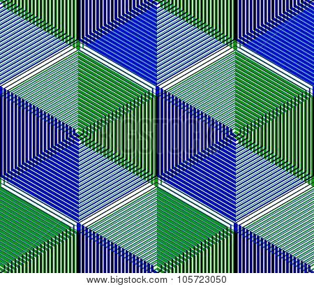 Contemporary Abstract Endless Eps10 Background, Three-dimensional Repeated Pattern. Decorative Graph