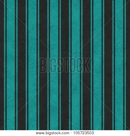 Teal And Black Striped Tile Pattern Repeat Background