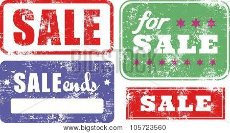 Sale Rubber Stamps Set