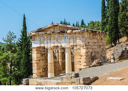 The Athenian Treasury In Delphi
