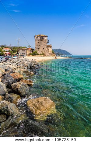 Ouranoupolis Tower In Chalkidiki