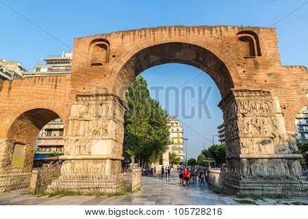 Arch Of Galerius In Thessaloniki