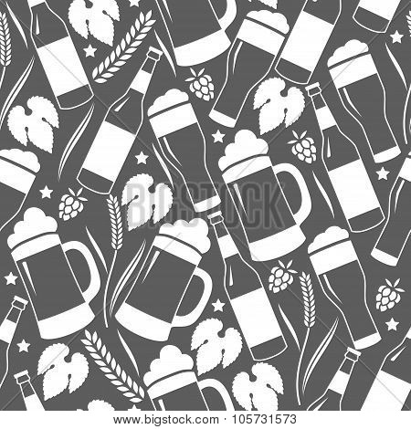 Seamless beer background