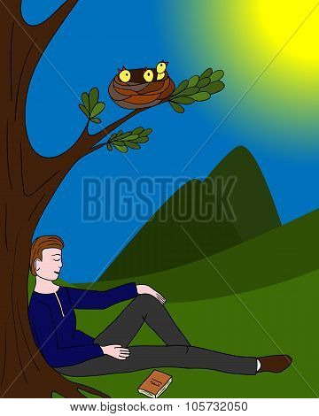 The Background Of A Relaxed Person