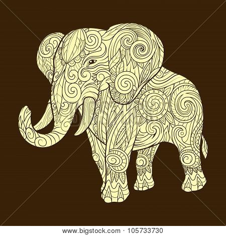 Elephant ornament ethnic vector illustration