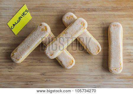 Cookies, calories concept