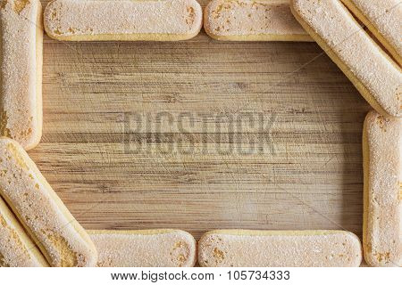 Food frame, ladyfingers