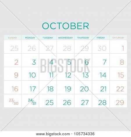 Calendar Vector Template 2016