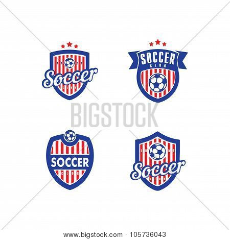 Soccer And Football Vector Logo Template