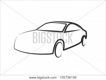 Modern Car Silhouette - Automobile Illustration