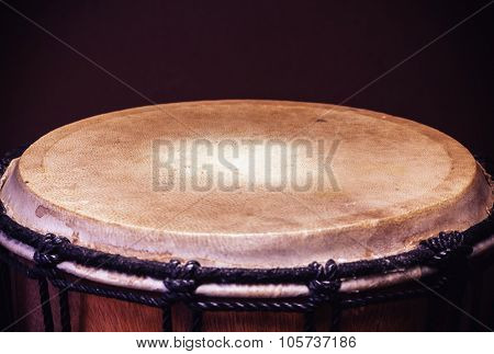Old Wooden Djembe Percussion