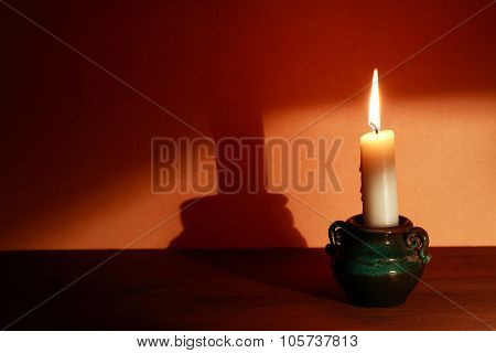 Candle With Shadow
