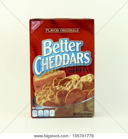 Box Of Nabisco Better Cheddars Snack Crackers