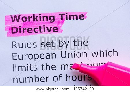Working Time Directive