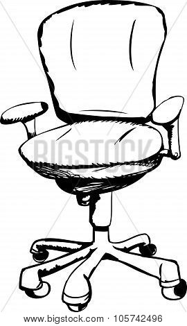 Outlined Ergonomic Task Chair