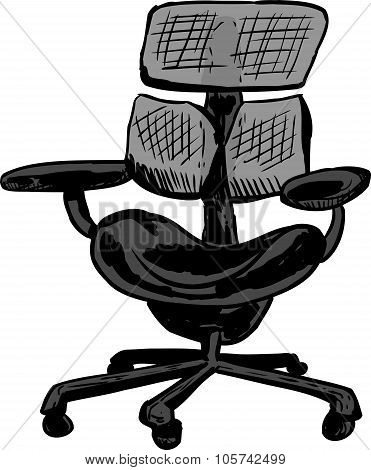 Isolated Ergonomic Mesh Chair