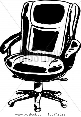 Outlined Office Chair