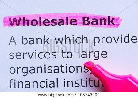 Wholesale Bank