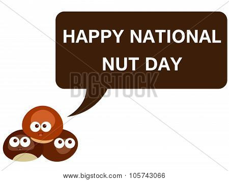 Happy national nut day cartoon version 2